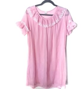 Vintage Pink Ruffle Nightgown